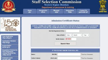 SSC CPO Admit Card 2019 Download Tier 1 Hall Ticket/Call Letter