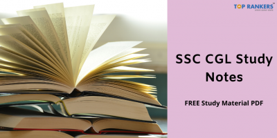 SSC CGL Study Notes & Study Material PDF Download 2020