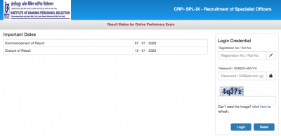IBPS SO Result 2020: Check Mains Result