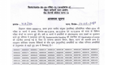 Bihar SSC Inter Level Result 2020 – Download Result PDF