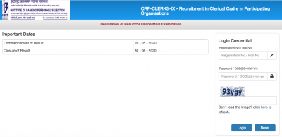 IBPS Clerk Final Result 2020 Released Today @ ibps.in