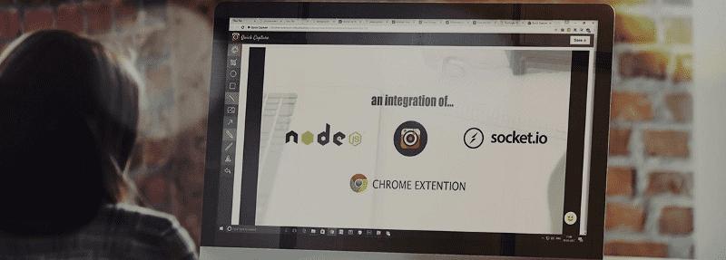 Node JS + Socket.IO + Chrome Extension Integration