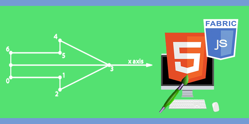 Draw an arrow using HTML 5 canvas and FabricJS