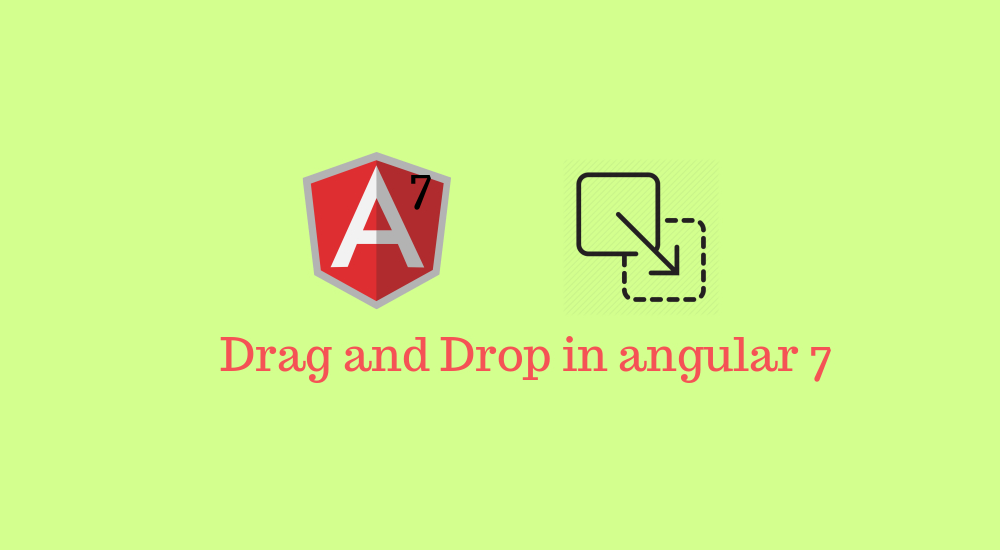 How to implement drag and drop with Angular 9