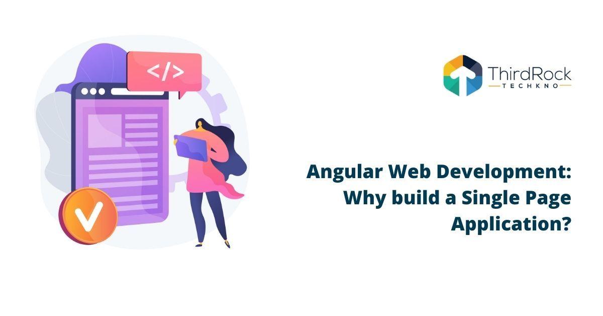 Angular Web development single page application